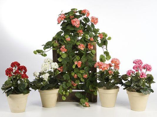 Plantas e Arvores Artificiais - Geranio | Darden Importação, Produção e Comercialização de Plantas e Árvores Artificiais